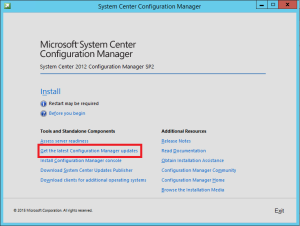 ConfigMgr 2012 SP2 Download Updates