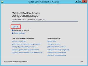 ConfigMgr 2012 SP2 Install