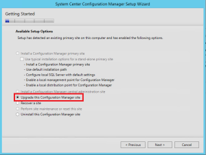 ConfigMgr 2012 SP2 Upgrade