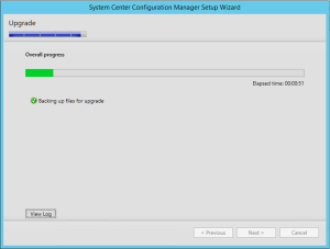 ConfigMgr 2012 SP2 Upgrade In Progress